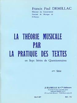 La théorie musicale ... - 2ème série laflutedepan