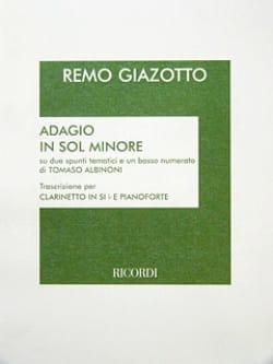 Albinoni Tomaso / Giazotto - Adagio In Sol Minore - Clarinette - Partition - di-arezzo.fr
