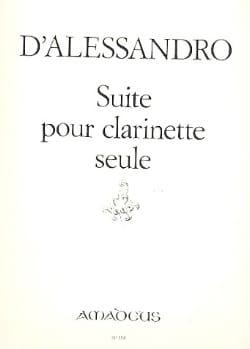 Raffaele d' Alessandro - Suite pour clarinette seule - Partition - di-arezzo.fr