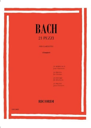 BACH - 21 Pezzi - Clarinetto - Sheet Music - di-arezzo.co.uk