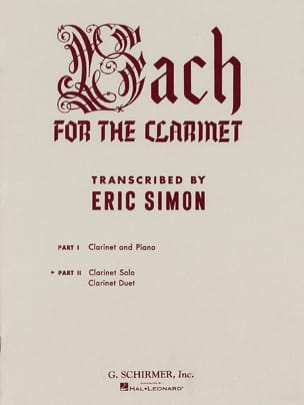 Bach for the clarinet - Volume 2 - BACH - Partition - laflutedepan.com