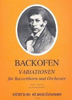 Johann Georg Heinrich Backofen - Variationen – Bassetthorn Klavier - Partition - di-arezzo.fr
