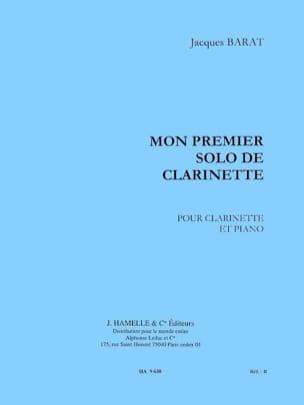 Jacques Barat - My first clarinet solo - Sheet Music - di-arezzo.com
