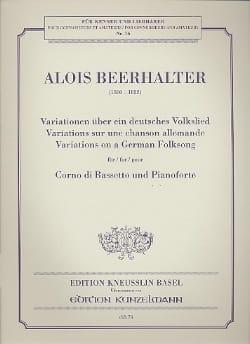 Alois Beerhalter - Variations sur une chanson allemande - Partition - di-arezzo.fr