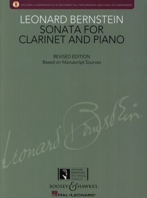 Sonata for Clarinet and Piano BERNSTEIN Partition laflutedepan
