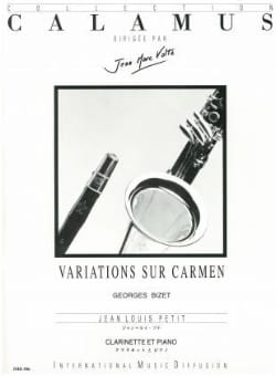 Variations sur Carmen - Clarinette BIZET Partition laflutedepan