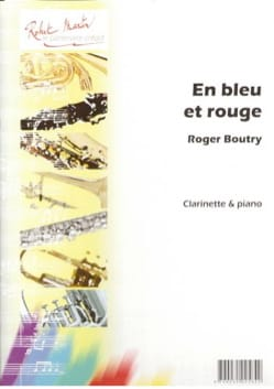 En bleu et rouge Roger Boutry Partition Clarinette - laflutedepan