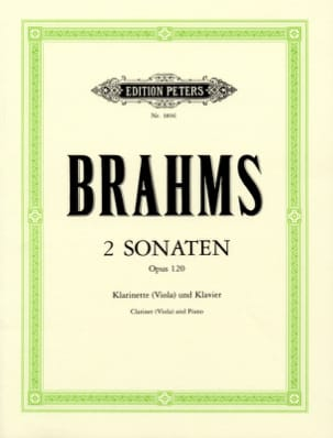 BRAHMS - 2 Sonatas op. 120 - clarinet, or viola, and piano. - Sheet Music - di-arezzo.co.uk