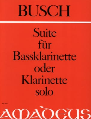 Adolf Busch - Suite for Bassklarinette solo o. Klarinette - Sheet Music - di-arezzo.co.uk