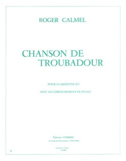Roger Calmel - Chanson de troubadour - Partition - di-arezzo.fr