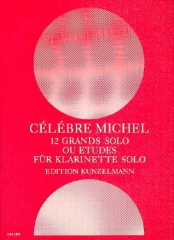12 Grands solo ou études Michel Célébre Partition laflutedepan
