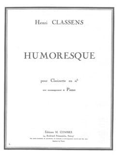 Henri Classens - Humoresque - Partition - di-arezzo.fr
