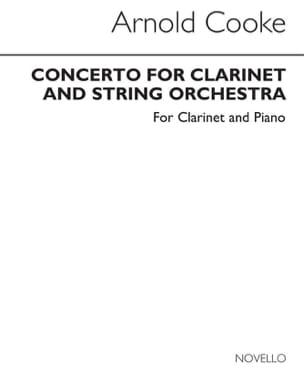 Arnold Cooke - Concerto for Clarinet - Piano Clarinet - Sheet Music - di-arezzo.co.uk