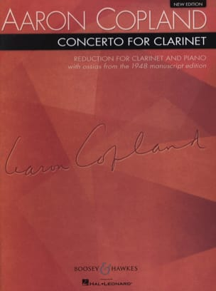 Aaron Copland - Concerto for clarinet – Clarinet piano - Partition - di-arezzo.fr