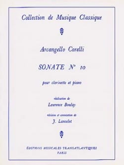CORELLI - Sonata for Clarinet n ° 10 - Partition - di-arezzo.co.uk