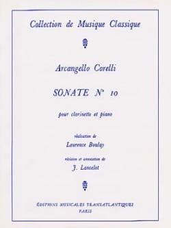 Arcangelo Corelli - Sonate pour Clarinette n° 10 - Partition - di-arezzo.fr
