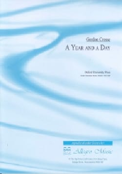 A Year and a Day - Gordon Crosse - Partition - laflutedepan.com