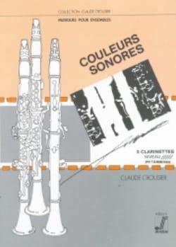 Claude Crousier - Couleurs sonores - Clarinette - Partition - di-arezzo.fr