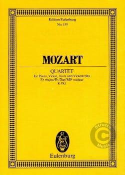 Wolfgang Amadeus Mozart - Quartett Es-Dur, Kv 493 - Partition - di-arezzo.fr