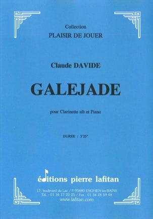 Galejade - Claude Davide - Partition - Clarinette - laflutedepan.com