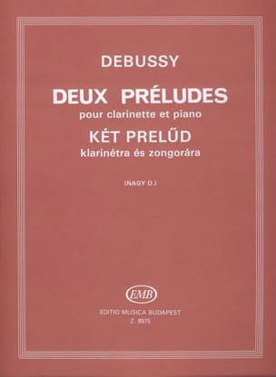 DEBUSSY - 2 Preludes - Clarinet - Sheet Music - di-arezzo.com