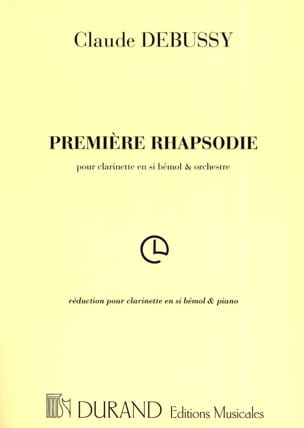 DEBUSSY - First Rhapsody for clarinet - Partition - di-arezzo.com
