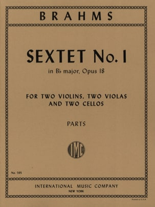 Sextet n° 1 in Bb major op. 18 - Parts BRAHMS Partition laflutedepan