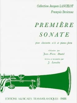 François Devienne - 1st Sonata - Clarinet and Piano - Sheet Music - di-arezzo.com