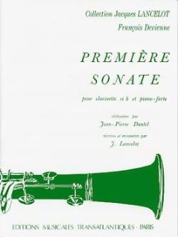 François Devienne - 1ère Sonate - Clarinette et Piano - Partition - di-arezzo.fr