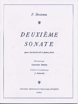 François Devienne - 2nd Sonata - Clarinet and Piano - Sheet Music - di-arezzo.co.uk