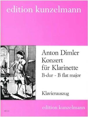 Anton Dimler - Konzert B-Dur für Klarinette - Noten - di-arezzo.de