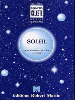 Soleil Désiré Dondeyne Partition Clarinette - laflutedepan