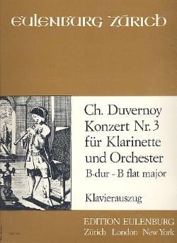 Charles Duvernoy - Konzert n° 3 B-Dur - Klarinette Klavier - Partition - di-arezzo.fr