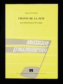 Maurice Faillenot - Chants de la nuit - Partition - di-arezzo.fr