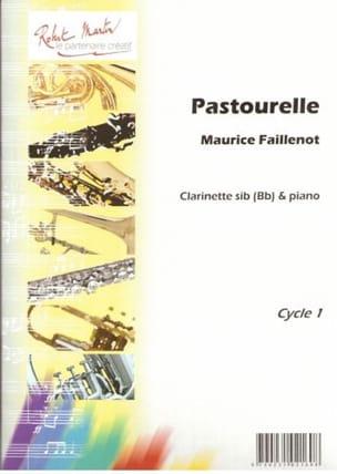 Pastourelle Maurice Faillenot Partition Clarinette - laflutedepan