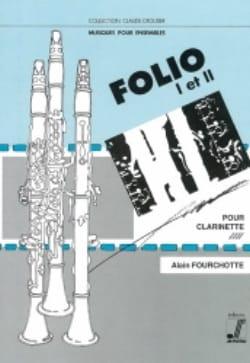 Alain Fourchotte - Folio 1 et 2 - Partition - di-arezzo.fr