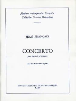 Concerto pour clarinette Jean Françaix Partition laflutedepan