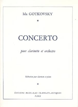 Ida Gotkovsky - Clarinet Concerto - Sheet Music - di-arezzo.co.uk