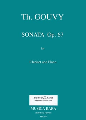 Théodore Gouvy - Sonata op. 67 for clarinet and piano - Partition - di-arezzo.fr