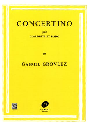 Gabriel Grovlez - Concertino - Clarinet - Sheet Music - di-arezzo.co.uk