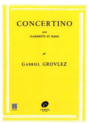 Gabriel Grovlez - コンサーティーノ - クラリネット - 楽譜 - di-arezzo.jp