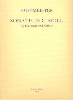 Sonate g-moll - Klarinette Klavier HOFFMEISTER Partition laflutedepan