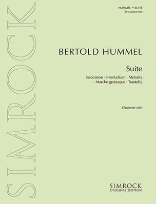 Suite – Klarinette solo - Bertold Hummel - laflutedepan.com