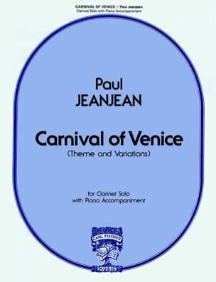 Paul Jeanjean - Carnival Of Venice - Clarinet-Piano - Partition - di-arezzo.fr