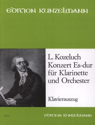 Léopold Kozeluch - Konzert Es-Dur -Klarinette Klavier - Partition - di-arezzo.fr