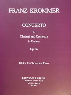 Franz Krommer - Concerto op. 86 in E minor - Partition - di-arezzo.co.uk