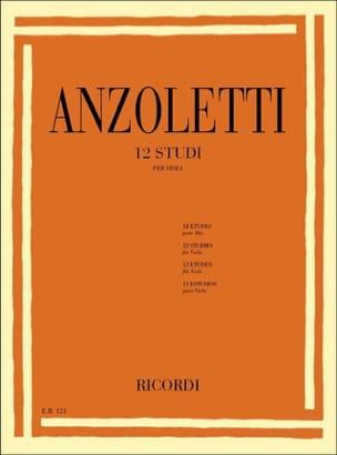 Marco Anzoletti - 12 Studi - Partitura - di-arezzo.es