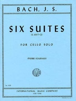 BACH - 6 Suites For Cello Only Fournier - Partition - di-arezzo.com