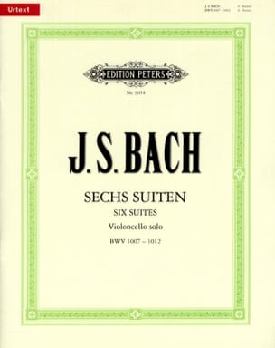 BACH - 6 Suites for Cello Alone BWV 1007-1012 - Urtext - Sheet Music - di-arezzo.co.uk