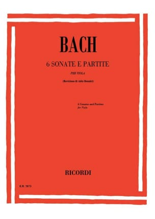 BACH - 6 Sonate e Partite - Partition - di-arezzo.fr